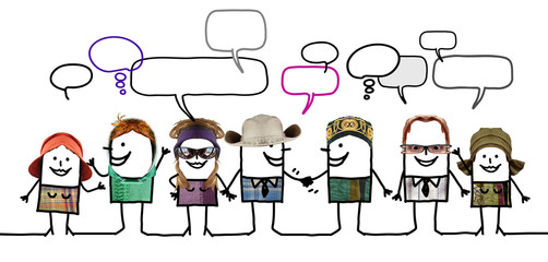 Cartoon people - social network and diversity