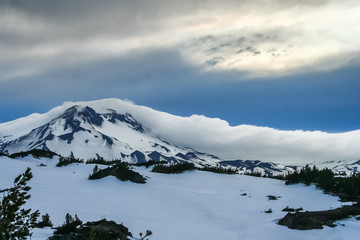 Clouds on South Sister, Oregon