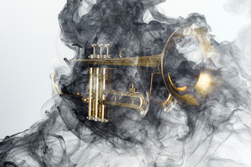 Trumpet Abstract Jazz Smoke