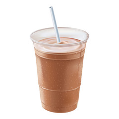 A chocolate or mocha milk shake or smoothie.