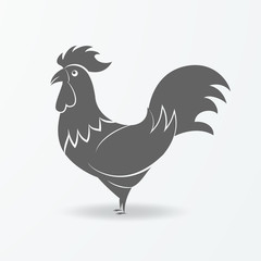 Rooster icon - the symbol of the new year.