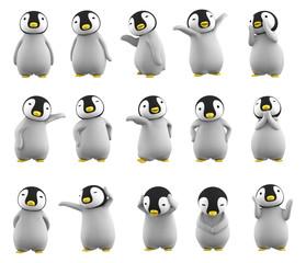 ペンギンのこども ポーズ集