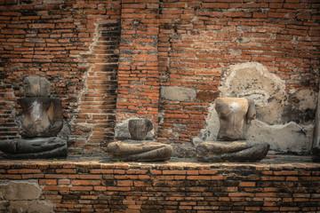 Buddha   decay  , THAILAND Ruins and Antiques at the Ayutthaya Historical Park