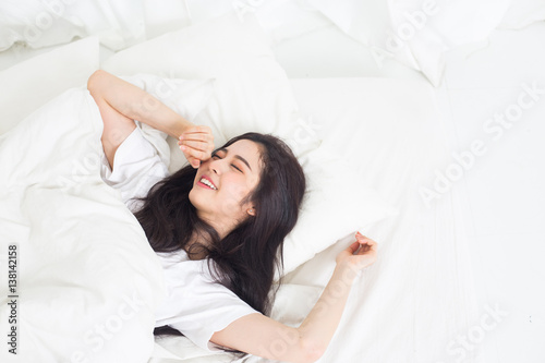 young asian lady chilling at home stock photo and royalty free images on pic. Black Bedroom Furniture Sets. Home Design Ideas