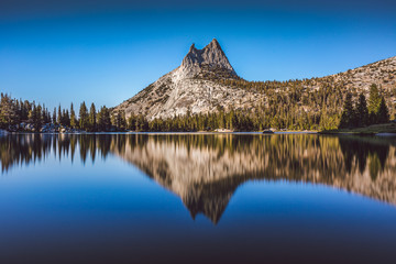 Wall Mural - Clear view of glacier-polished granite