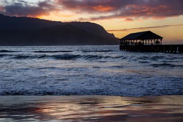 Hanalei Bay Sunset 1