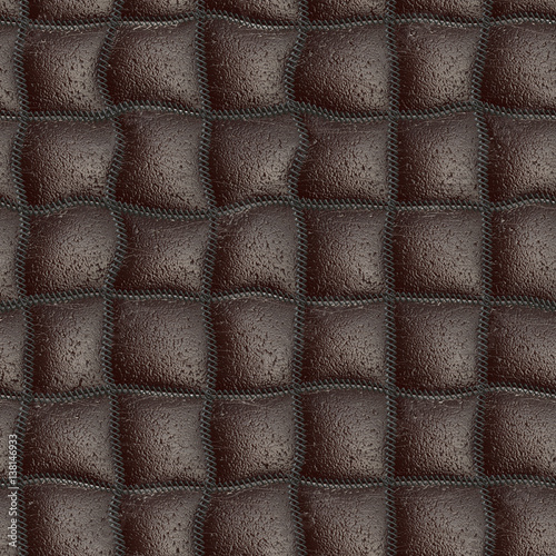 Seamless quilting leather pattern