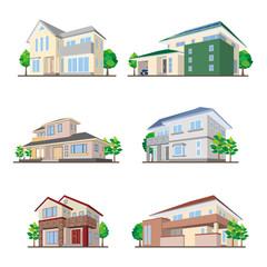 家のイラスト / 立体図形