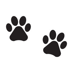 dog footprint icon isolated vector