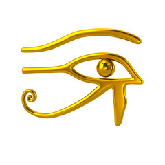 Golden Eye of Horus symbol
