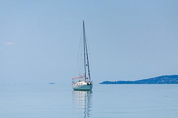 Yacht on the lake Balaton, Siofok, Hungary