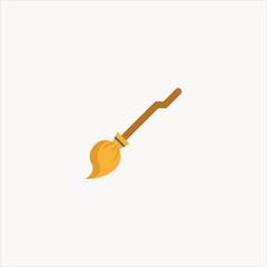 magic broom icon flat design