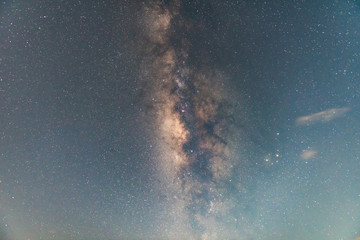 The Milky Way. Our galaxy. This long exposure astronomical photography