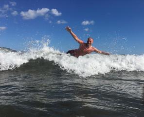 Man in Ocean Wave
