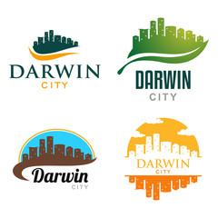 Darwin Australia City Landscape Cityscape Skyline Logo