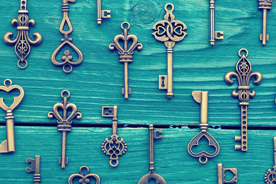 Different vintage keys