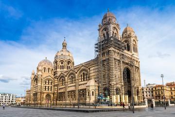 Cathédrale Sainte-Marie-Majeure en réfection à Marseille, Provence, France