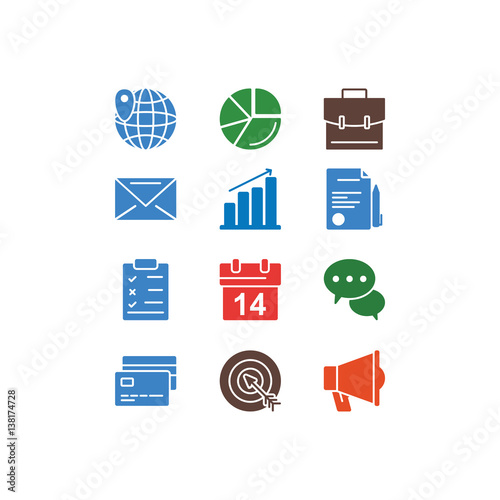 set of office related vector line icons contains such icons as