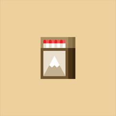 matches icon flat design