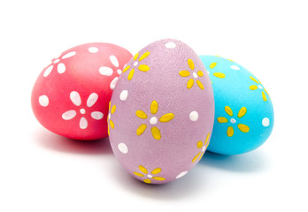 Perfect colorful handmade easter eggs isolated
