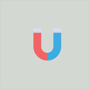 horseshoe icon flat design