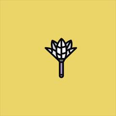 brush icon flat design