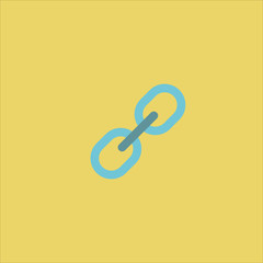 chains icon flat design