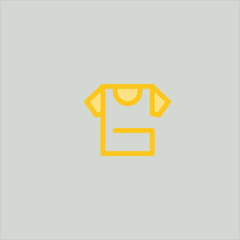 shirt icon flat design