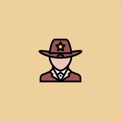 sheriff icon flat design