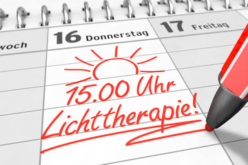 Termin für Lichttherapie in Kalender einschreiben