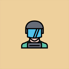 swat icon flat design