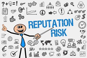 Reputation Risk / Mann mit Symbole