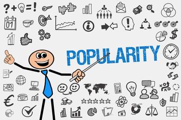 Popularity / Mann mit Symbole