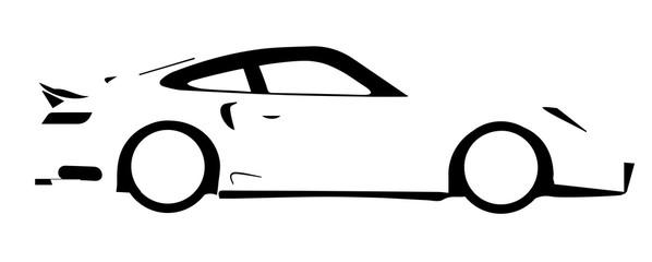 Fast Car Outline