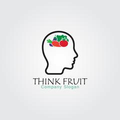human think fruit logo