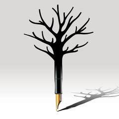 Stylo - imagination - censure - Arbre Mort
