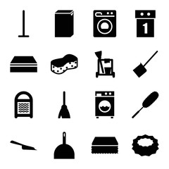Set of 16 housework filled icons