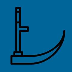 scythe icon flat design