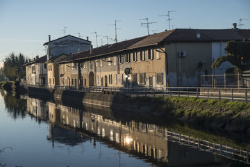 Milan (Italy), canal of Martesana