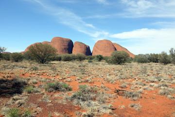 The Olgas in central Australia