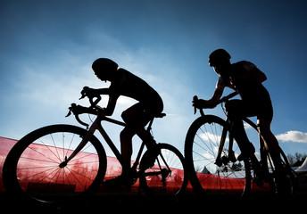 Radsport Zweikampf