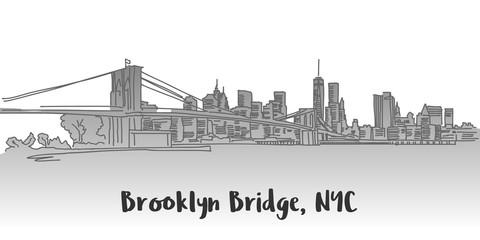 Brooklyn Bridge Manhattan Skyline Landmark