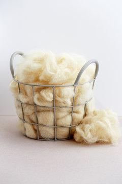 Raw Natural Wool Fiber