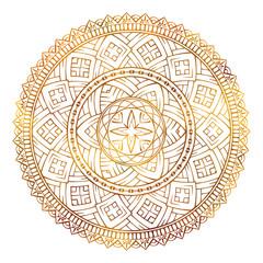 Vector colored ethnic mandala pattern