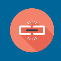 broken link icon flat disign