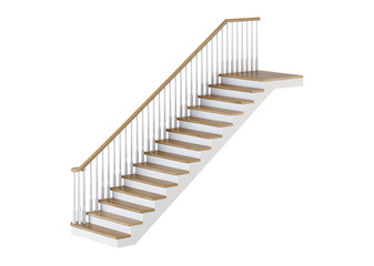 Stairs on white background. 3D rendering.