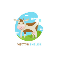 Funny cow - concept for milk and dairy industry