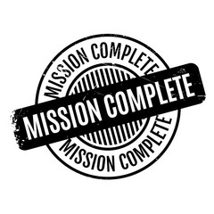 Mission Complete rubber stamp