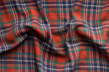 Plaid Fabric Background, traditional Scottish pattern, texture