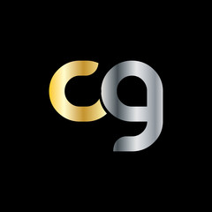 Initial Letter CG Rounded Lowercase Logo